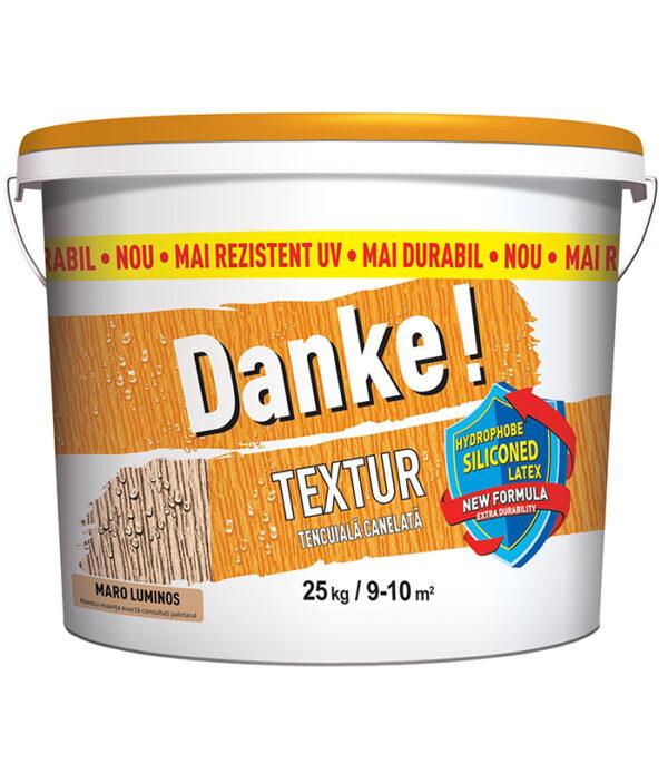 Danke! Textur - tencuiala cu latex siliconat