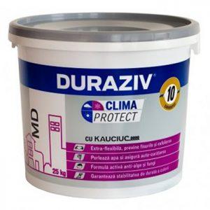 DURAZIV Clima Protect - tencuiala bob de orez esteideală pentru decorarea faţadelor, ca strat de finisare şi protecţie al termosistemelor.