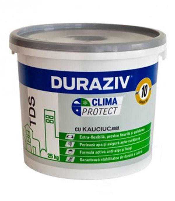 DURAZIV Clima Protect – tencuiala canelatacu Kauciuc® estei deală pentru decorarea faţadelor, ca finisare şi protecţie al sistemelor termoizolante.