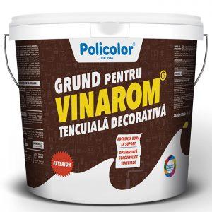 VINAROM Grund pentru tencuiala este utilizat ca strat de fond si aderenta, usurand aplicarea si structurarea tencuielilor decorative.