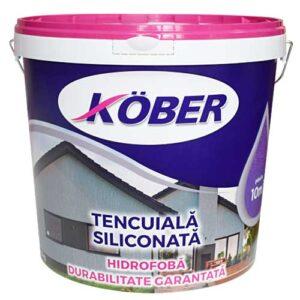 Kober Tencuiala decorativa siliconata asigura protejarea mecanica a termosistemului la grindina. Utilizare pentru protejarea fatadelor supuse la uzură.