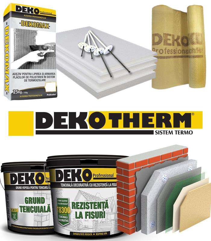 Tencuiala Decorativa Deko Pret.Termosistem Premium Deko E Tencuiala Ro