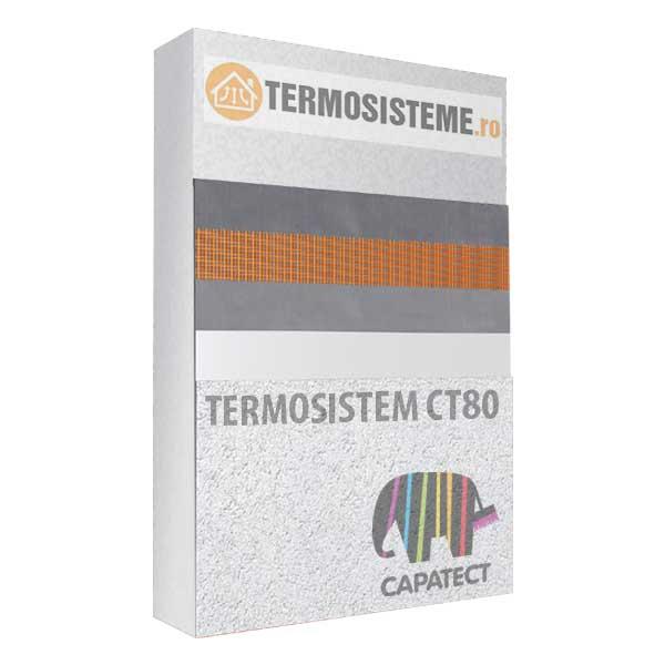 Termosistem fatada CT80 Caparol 10cmeste un sitem de izolare termica a fatadei din polistiren Caparol CT80 cu grosimea de 10cm.