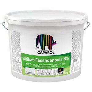 Tencuiala decorativa Caparol Silikat Fassadenputz R si K este o decorativă silicatică, gata pregătită pentru aplicare.