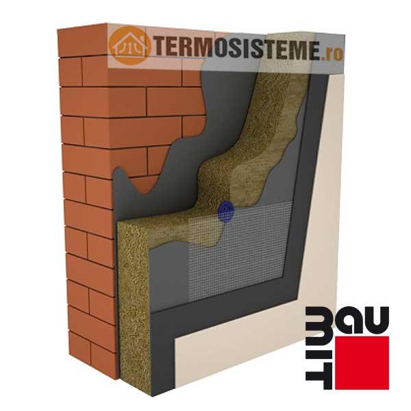 Termosistem vata minerala bazaltica BAUMIT 10cmeste un sitem de izolatie pentru fatada casei. Rezistență si durabilitate ridicată.