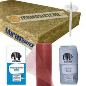 Termosistem vata bazaltica Caparol 10cmeste un sitem de izolare termica a fatadei alcatuit din vata bazaltica fatada de 10cm.