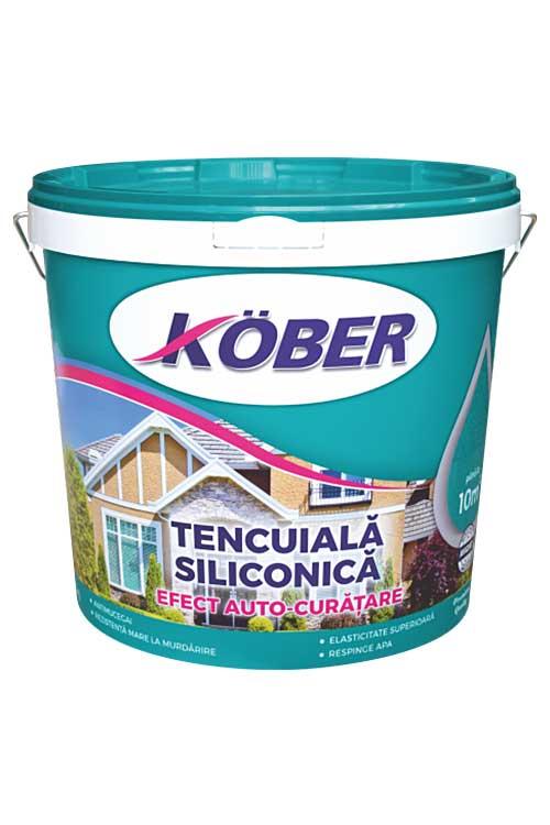 Tencuiala decorativa Siliconica KOBER este o tencuiala decorativa siliconica profesionala structurata alba, cu aspect de bob de orez sau scoarta de copac.